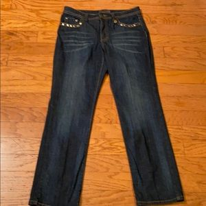 PRE-OWNED NINE WEST JEWELED JEANS